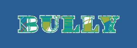 The word BULLY concept written in colorful abstract typography. Vector EPS 10 available.