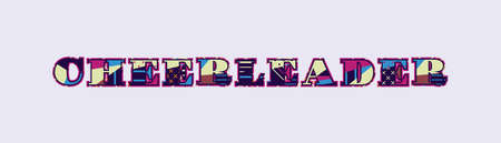 The word CHEERLEADER concept written in colorful abstract typography. Vector EPS 10 available.
