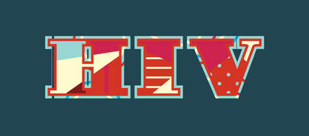 The letters HIV concept written in colorful abstract typography. Vector EPS 10 available. Ilustrace