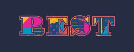 The word REST concept written in colorful abstract typography. Vector EPS 10 available. Иллюстрация