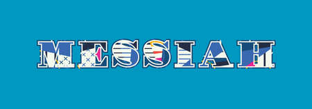 The word MESSIAH concept written in colorful abstract typography. Vector EPS 10 available.