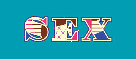 The word SEX concept written in colorful abstract typography. Vector EPS 10 available.