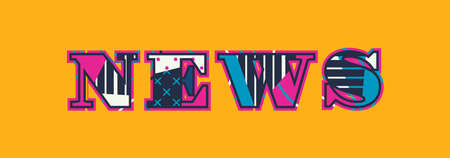 The word NEWS concept written in colorful abstract typography. Vector EPS 10 available.