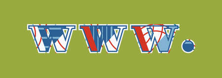 The word www. concept written in colorful abstract typography.