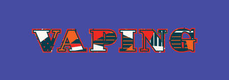 The word vaping concept written in colorful abstract typography. Ilustrace
