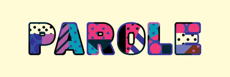 The word PAROLE concept written in colorful abstract typography.