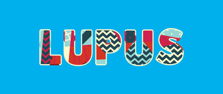 The word LUPUS concept written in colorful abstract typography. Vector EPS 10 available.