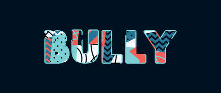 The word BULLY concept written in colorful abstract typography. Vector EPS 10 available. Banque d'images - 103631142