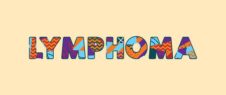 The word LYMPHOMA concept written in colorful abstract typography. Vector EPS 10 available.