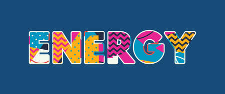 The word ENERGY concept written in colorful abstract typography. Vector EPS 10 available. Ilustrace