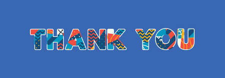 The words THANK YOU concept written in colorful abstract typography. Vector EPS 10 available.