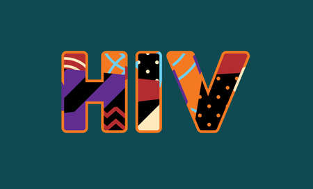 The letters HIV concept written in colorful abstract typography. Vector EPS 10 available. Illustration