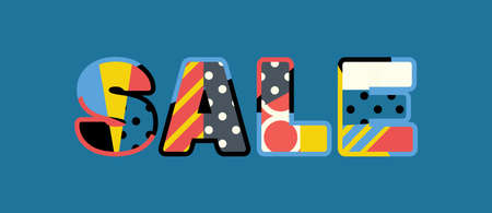 The word SALE concept written in colorful abstract typography. Vector EPS 10 available. Illustration