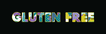 The words GLUTEN FREE concept written in colorful abstract typography. Vector EPS 10 available.