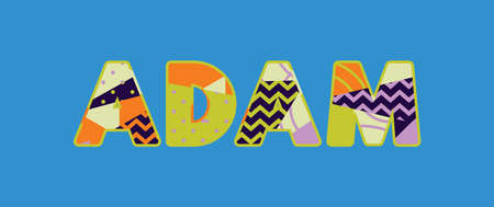 The name ADAM concept written in colorful abstract typography. Vector EPS 10 available.