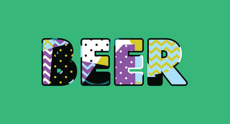 The word BEER concept written in colorful abstract typography. Vector EPS 10 available. Illustration