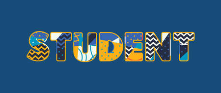The word STUDENT concept written in colorful abstract typography. Vector EPS 10 available. Illustration