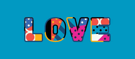 The word LOVE concept written in colorful abstract typography. Vector EPS 10 available. Stock Vector - 103633195
