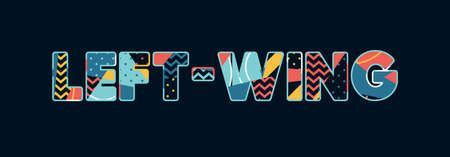 The word LEFT-WING concept written in colorful abstract typography. Vector EPS 10 available.