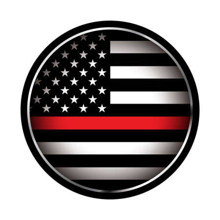An American flag icon firefighter support flag. Vector EPS 10 available. 일러스트