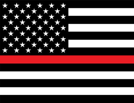 An American flag firefighter support flag. Vector EPS 10 available.