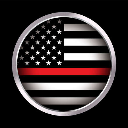 An American flag icon firefighter support flag. Vector EPS 10 available.  イラスト・ベクター素材