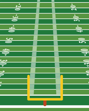 An American football field background illustration in vertical format. Vector EPS 10 available. 向量圖像