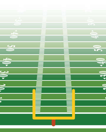 An American football field background illustration in vertical format. Vector EPS 10 available. Illustration