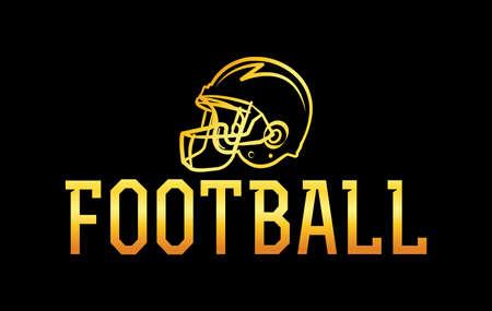 An American football gold helmet icon illustration. Vector EPS 10 available.