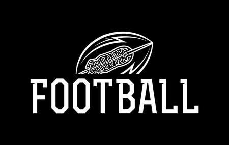 An American football ball icon illustration. Vector EPS 10 available.
