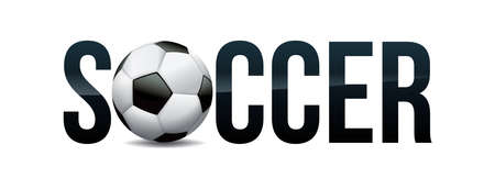 The word SOCCER and ball word art concept illustration. Vector EPS 10 available.