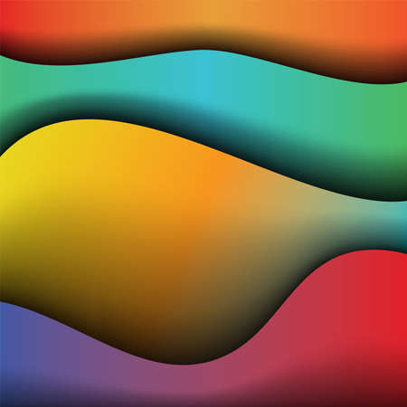 An abstract background of smooth waves of colors illustration. Vector EPS 10 available.