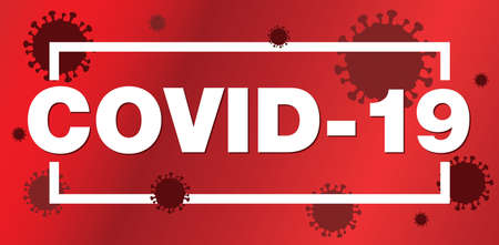 An alert sign for COVID-19 illustration.