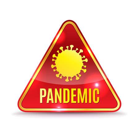 A coronavirus covid-19 pandemic alert icon illustration.