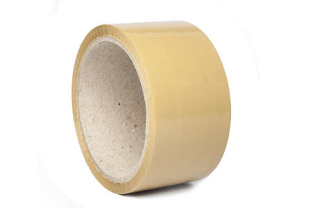 sellotape: adhesive roll tape isolated on white background