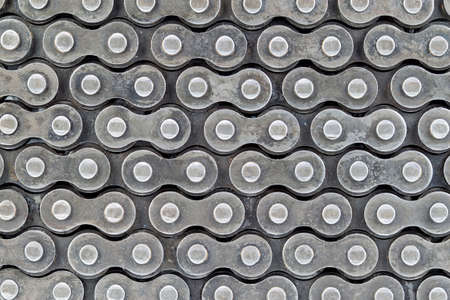 texture of roller chains use for background