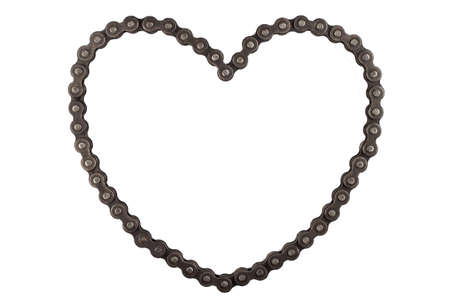 Roller chains with sprockets for motorcycles with shape heart