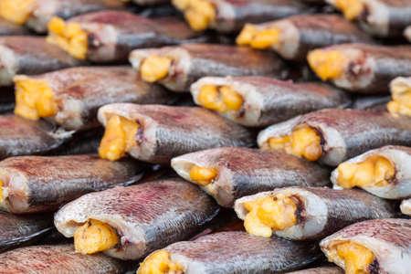 pectoralis: Snake Skin Gourami Fish,Pla Salit (Trichogaster pectoralis) desiccated.