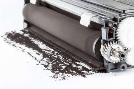 laser printer cartridge on a white background 写真素材