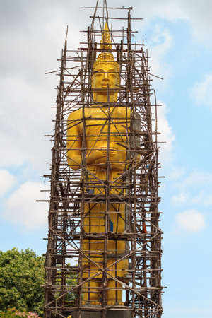 hallowed: Buddha statue under construction at Jolo temple