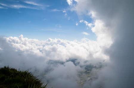 rain cloud: beautiful cloud and sky after rain cloud passed