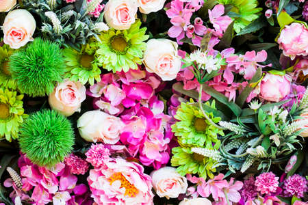 counterfeit: Beautiful of counterfeit flowers for background Stock Photo
