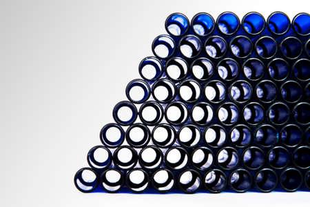 culvert: Light rays shining through blue plastic pipes