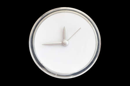 trickle: empty of time on clear plastic watch Stock Photo