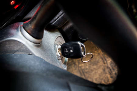 ignition: Car keys in ignition (start the car)