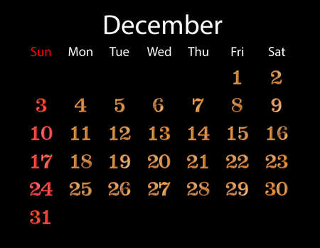 decembe: December calendar 2017. Number made from wood with clipping path, you can change background