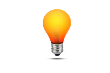 red bulbs isolated on a white background with clipping path