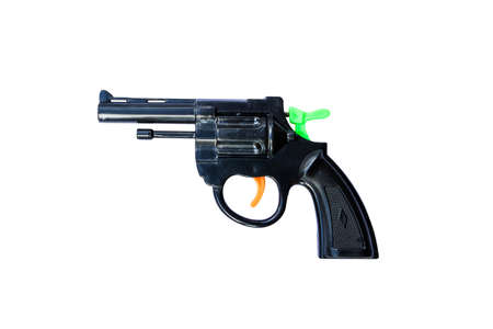 glock: Toy gun isolated on white background Stock Photo