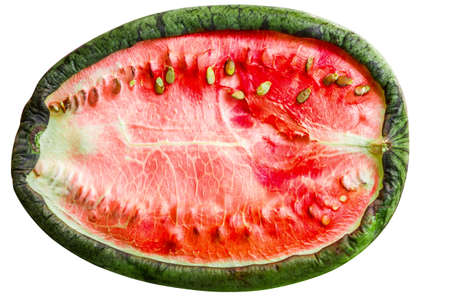Sun-dried watermelon isolated on white background Stock Photo