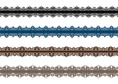 Vintage ornament seamless border pattern with beautiful retro filigree for decorative frame or premium invitation cards , luxury certificate , vector illustration